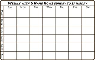 6 week calendar